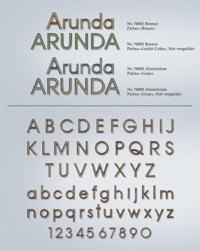Schriftart: Arunda