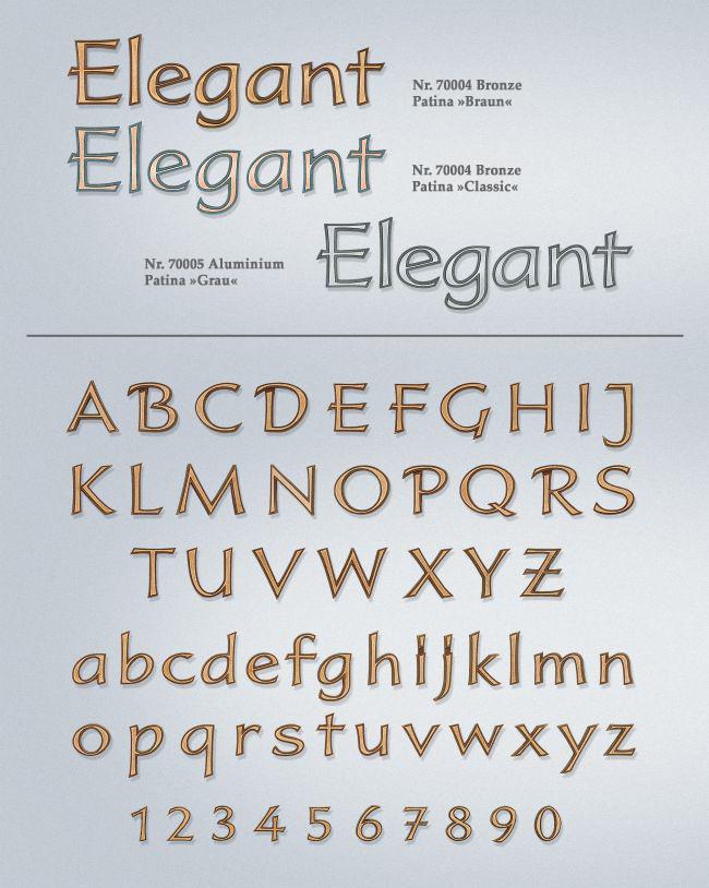 Schriftart: Elegant
