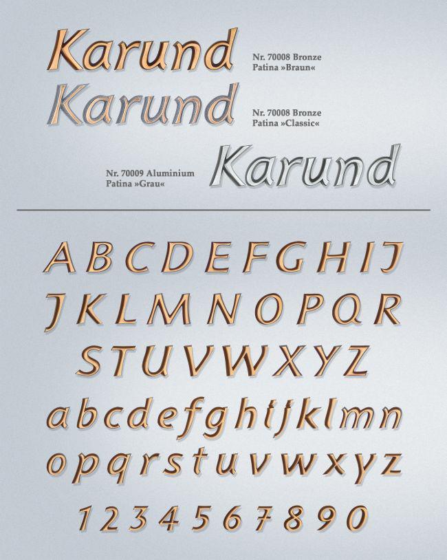 Schriftart: Karund
