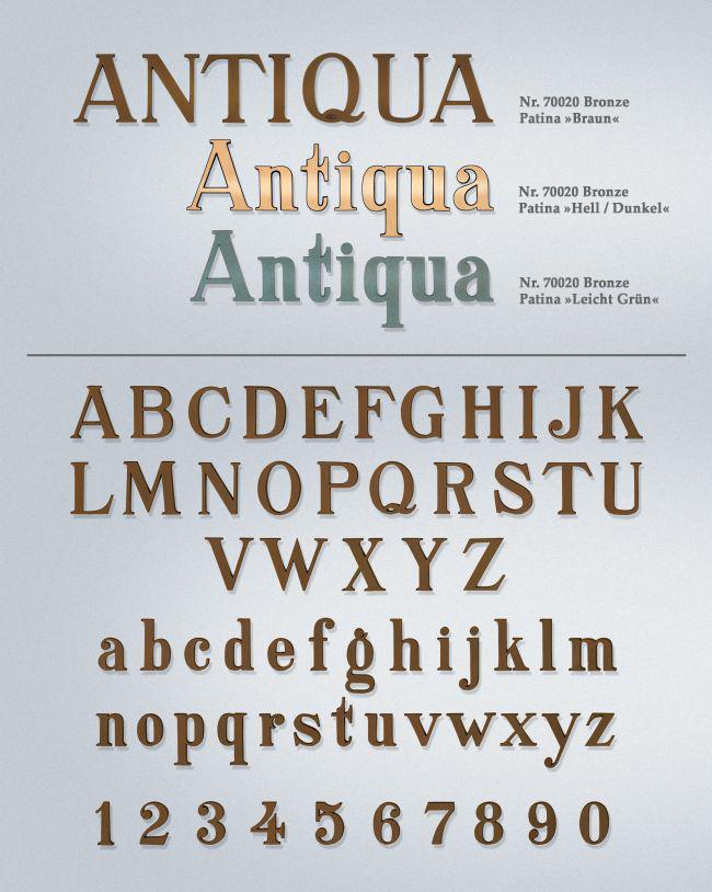 Schriftart: Antiqua