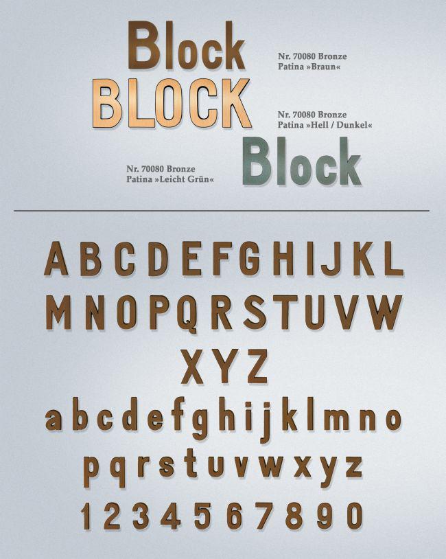 Schriftart: Block