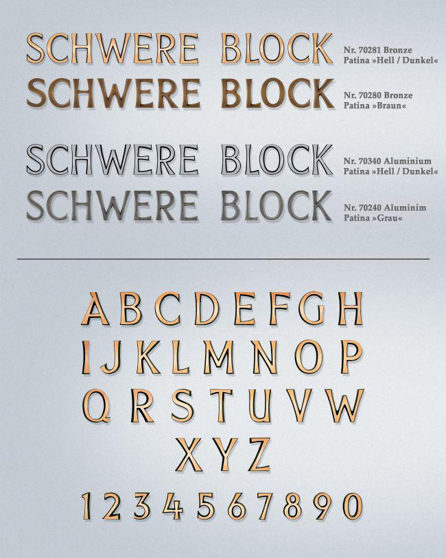 Schriftart: Schwere Block