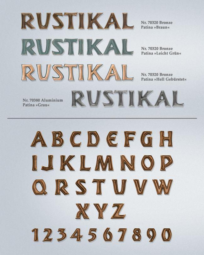 Schriftart: Rustikal