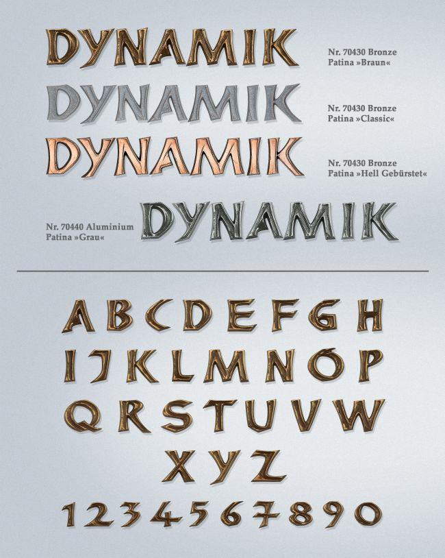 Schriftart: Dynamik
