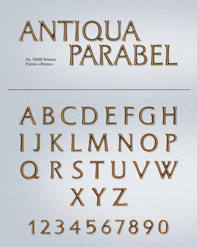 Schriftart: Antiqua Parabel