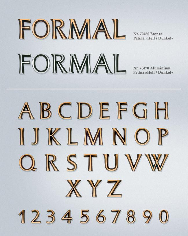 Schriftart: Formal