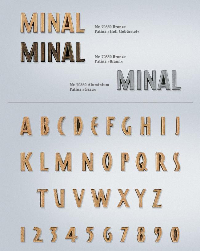 Schriftart: Minal
