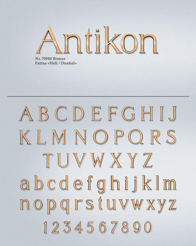 Schriftart: Antikon